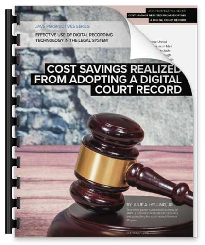 Cost Savings of Court Recording